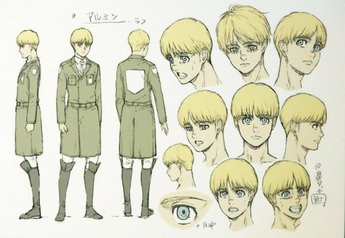 Attack on Titan New Character Designs