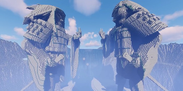 Naruto Fan Recreates Valley Of The End In Minecraft