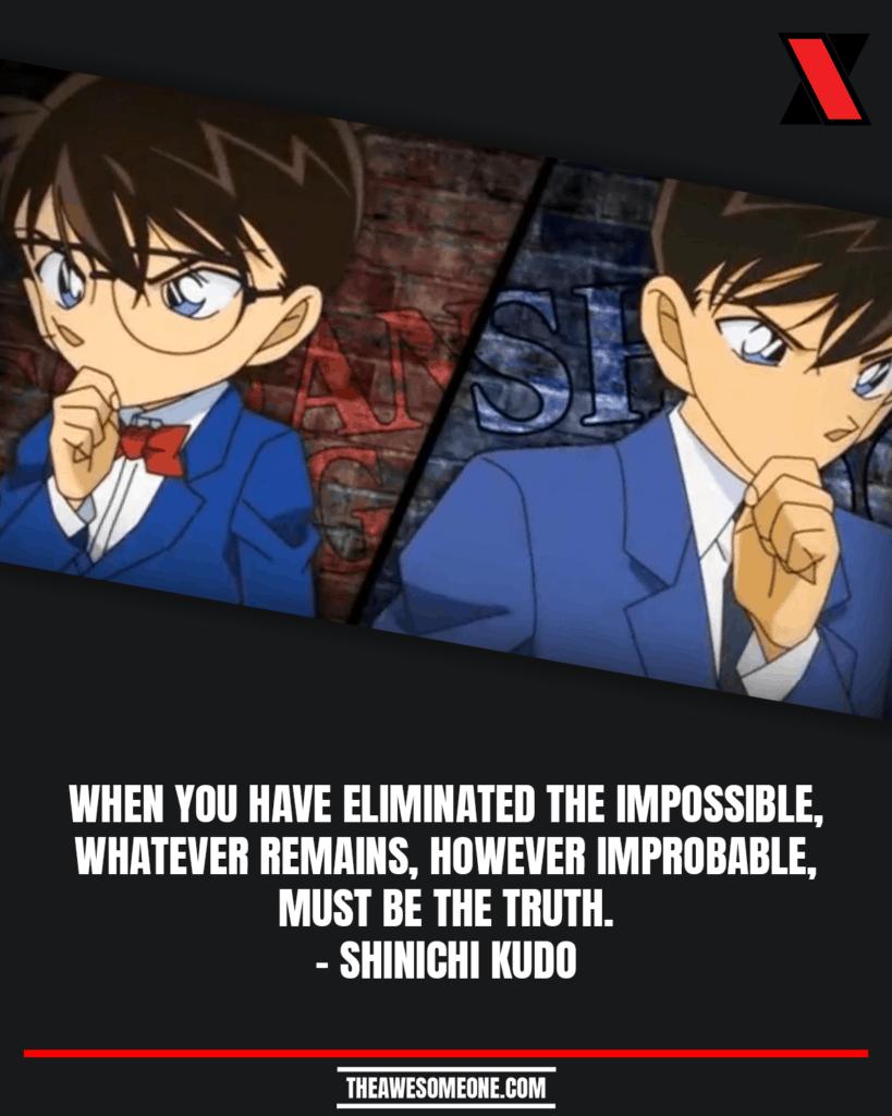 Detective Conan Quotes Shinichi Kudo