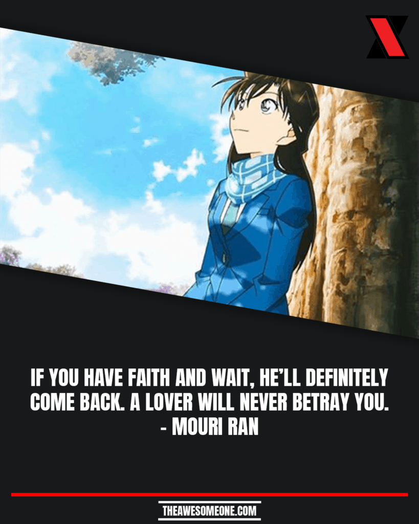 Detective Conan Quotes Mouri Ran