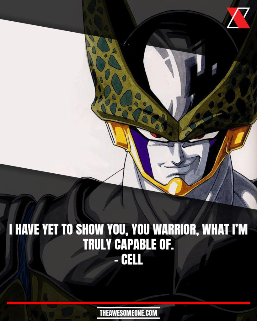 Dragon Ball Z Quotes Cell