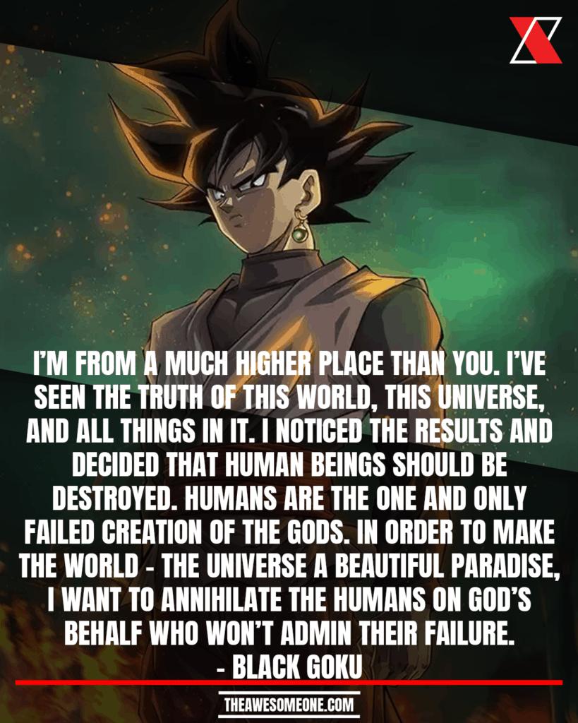 Dragon Ball Z Quotes Black Goku