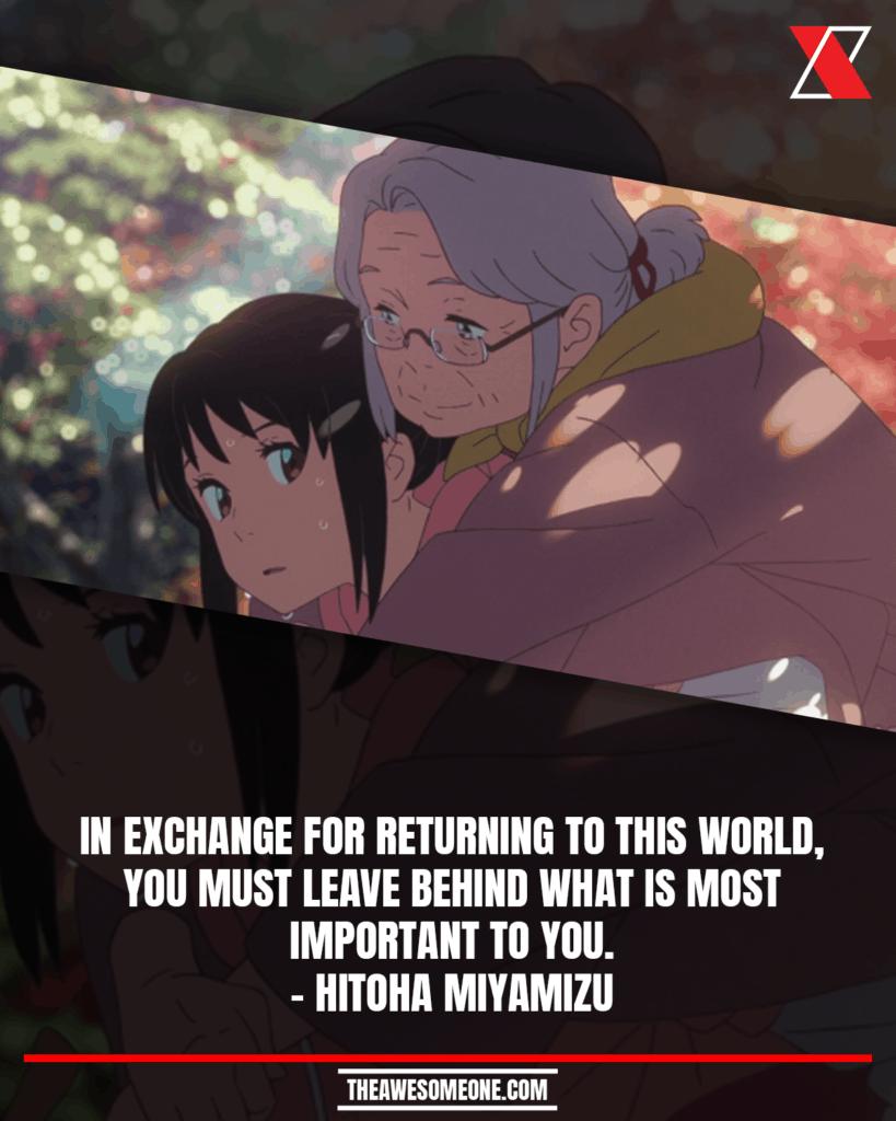 Your Name Quotes Hitoha Miyamizu