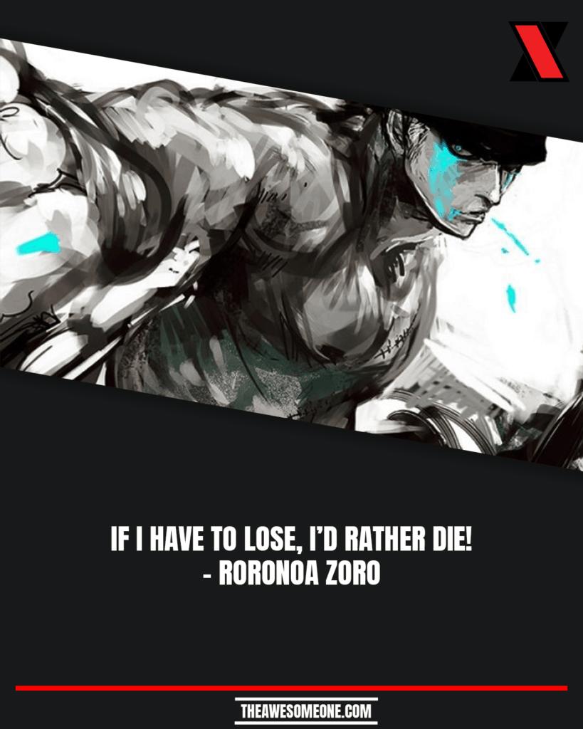 One Piece Quotes Roronoa Zoro