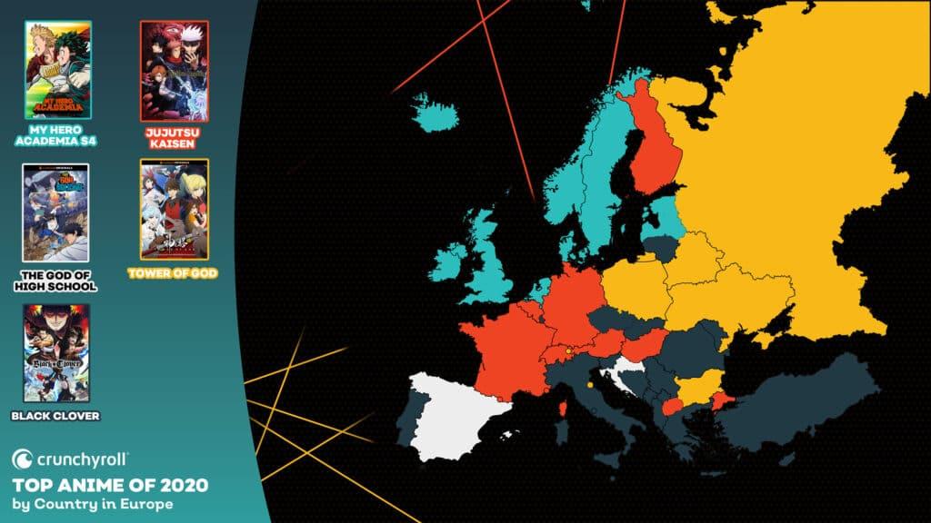 Most Popular Anime 2020 Europe