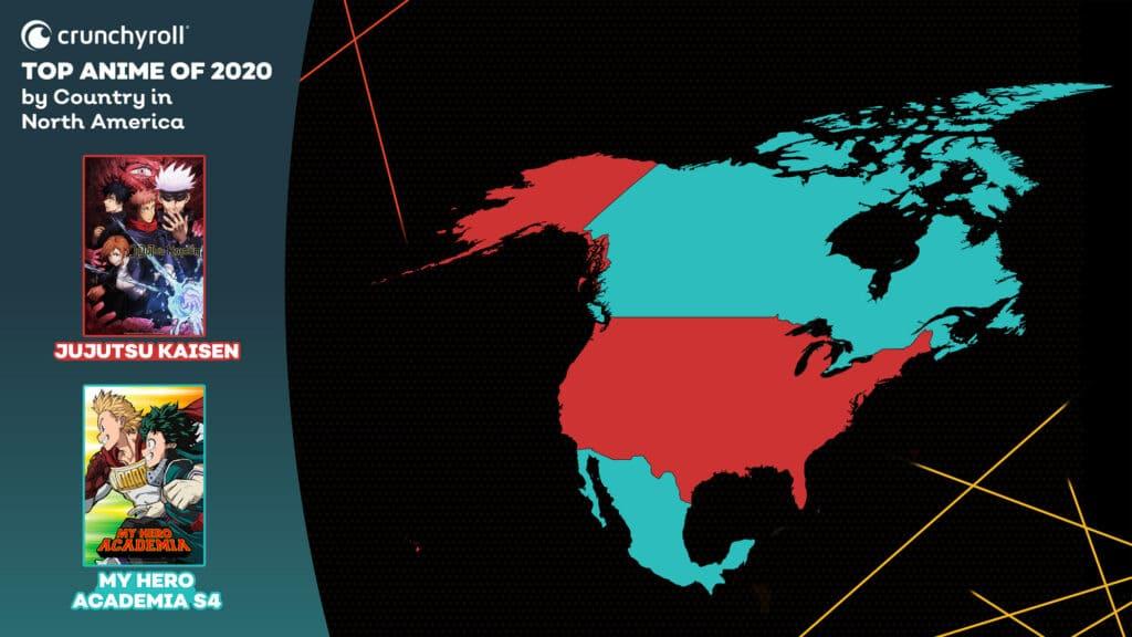 Most Popular Anime 2020 North America